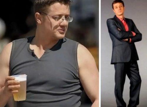 похудевшие мужчины