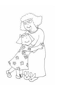 рисунок бабушка и внучка