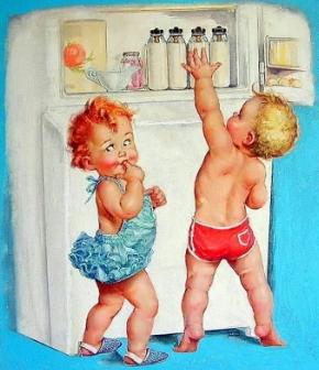 дети и холодильник